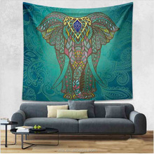 home accessory elephant print hippie living room tapestry, wall hanging