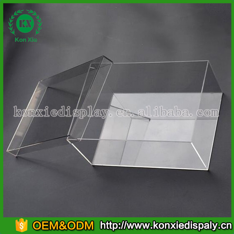 customized clear acrylic shoe box