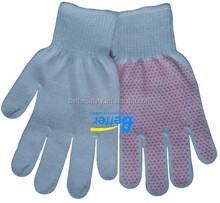 100% Cotton coated Pink PVC Mini Dots work Glove wholesale