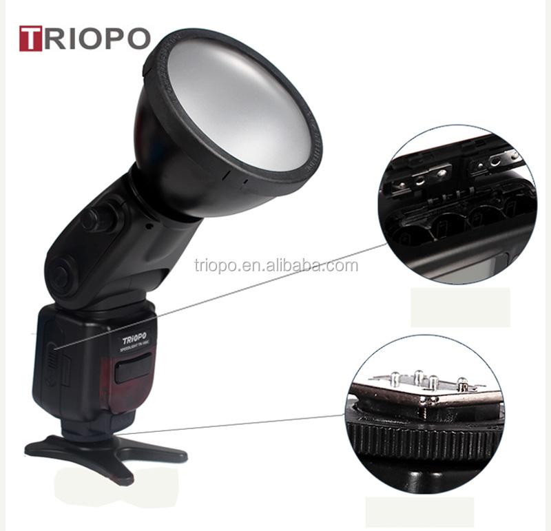 TRIOPO TR-180 Portable Flash Light,speedlite ,flash gun with Plug type flash tube ,master and slave ,wireless function for Canon