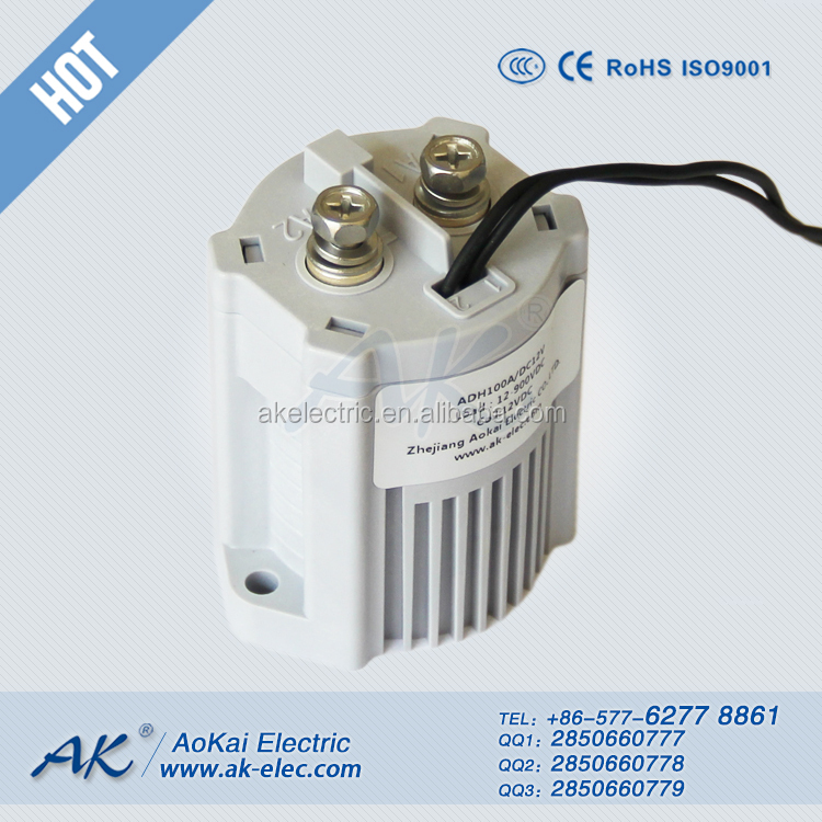 ADH100A-<strong>Q</strong> 84VDC 100A Used in EV Battery Car DC Relay 1H 5.5W-6W AOKAI High Voltage DC Contactor