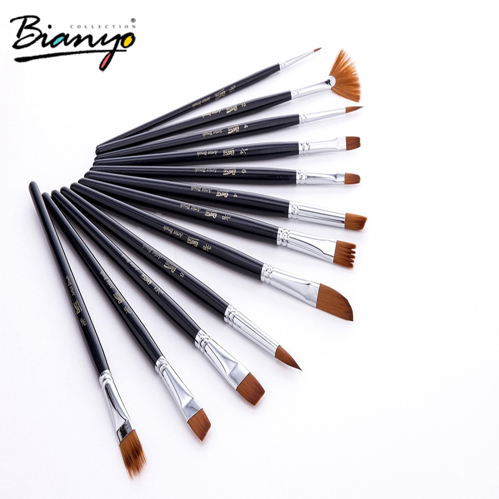 Best price high quality wholesale nylon hair paint brush for artist