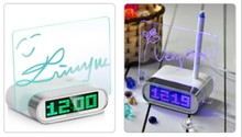 modern led alarm clock with memo board