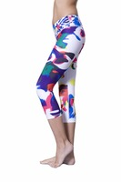 Custom Sublimation Compression Yoga Pants Sports Jogging Running Tights