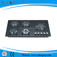 Zhongshan famous 16 years manufacture 5 burner gas cooker, 5 burner gas hob, cheap kitchen appliance