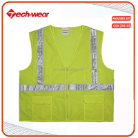 Wholesale High Visibility 100% polyester Work Security Reflection Vest