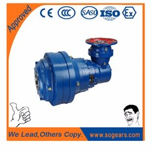 Planetary electric motor, classical plastic spur gear, gearbox housing