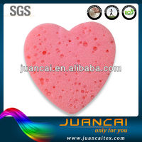 Disposable Heart Shape Beautiful Compressed Bath Sponge