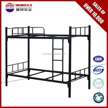 durable metal bunk bed double and single for refugee camp