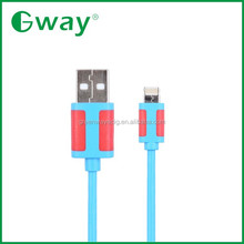 Hot sale Flat PVC 8 pin multi micro usb data cable charger for smart phone