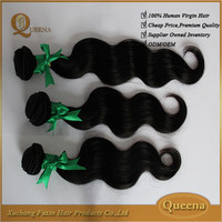 Queena Hair Products Top Weave Distributors Wholesale 100% Raw Unprocessed Virgin Indian Remy Hair