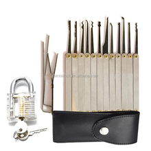 15 pieces Unlocking lock pick set key extractor tool transparent practice padlocks