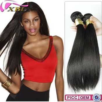 Silky Straight Human Hair Virgin Indian Brazilian Hair 3.5 Oz