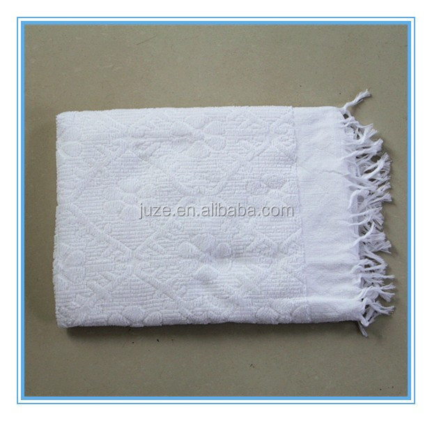 high quality white Polyster ihram hajj <strong>towel</strong> 400g