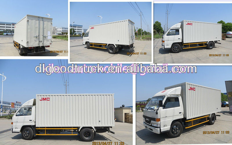 JMC 4x2 conversion van truck cargo/ mini box van truck