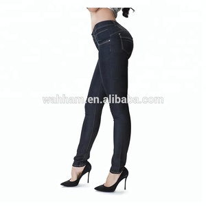 China factory direct Stretchy skinny high-rise waist skinny women's jeans