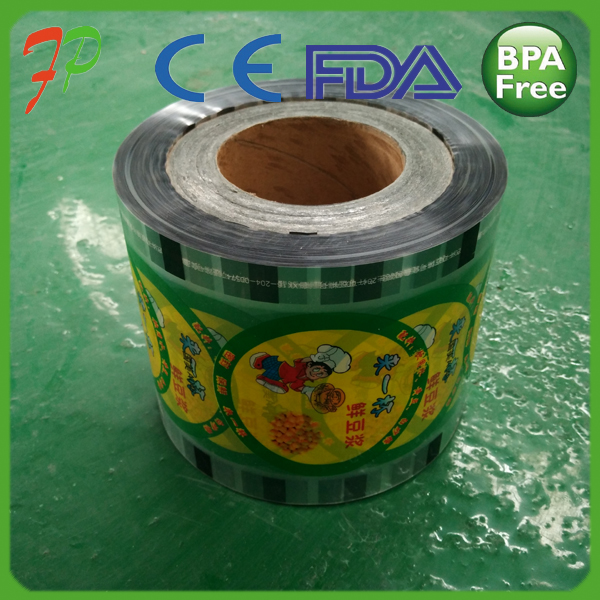 Bpa Free Translucent Plastic Cup Sealing Film/snack Food Packaging Customized Bubble Tea Cup Sealing Film/lamination Film