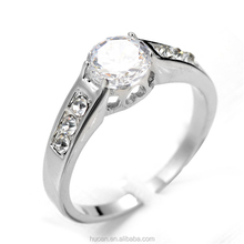 Top Sale!!best selling fashion zircon rings fancy silver ring designs for women