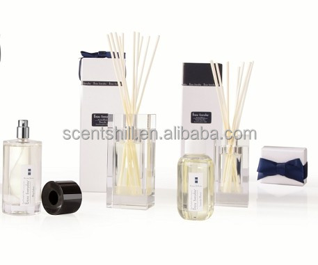 Fragrish volatile perfume liquid and high quality crystal glass bottle gift set lavender scent aroma diffuser
