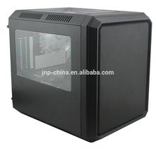 Hot selling pc casing p4 atx leather computer case for wholesales
