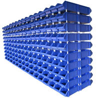 Industrial warehouse plastic stackable bin box