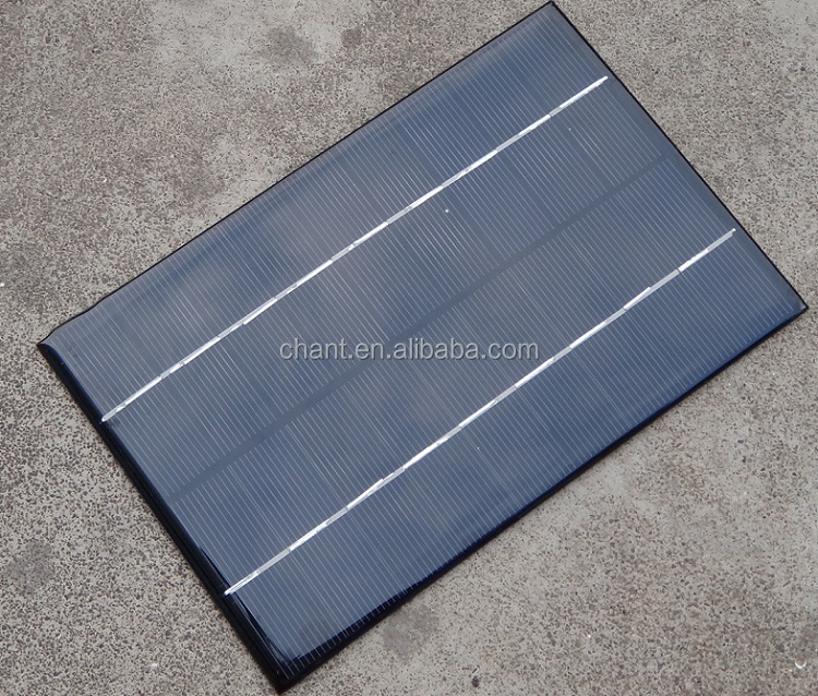 6 v 4.2 W small cheap bamboo fabric monocrystalline solar panels