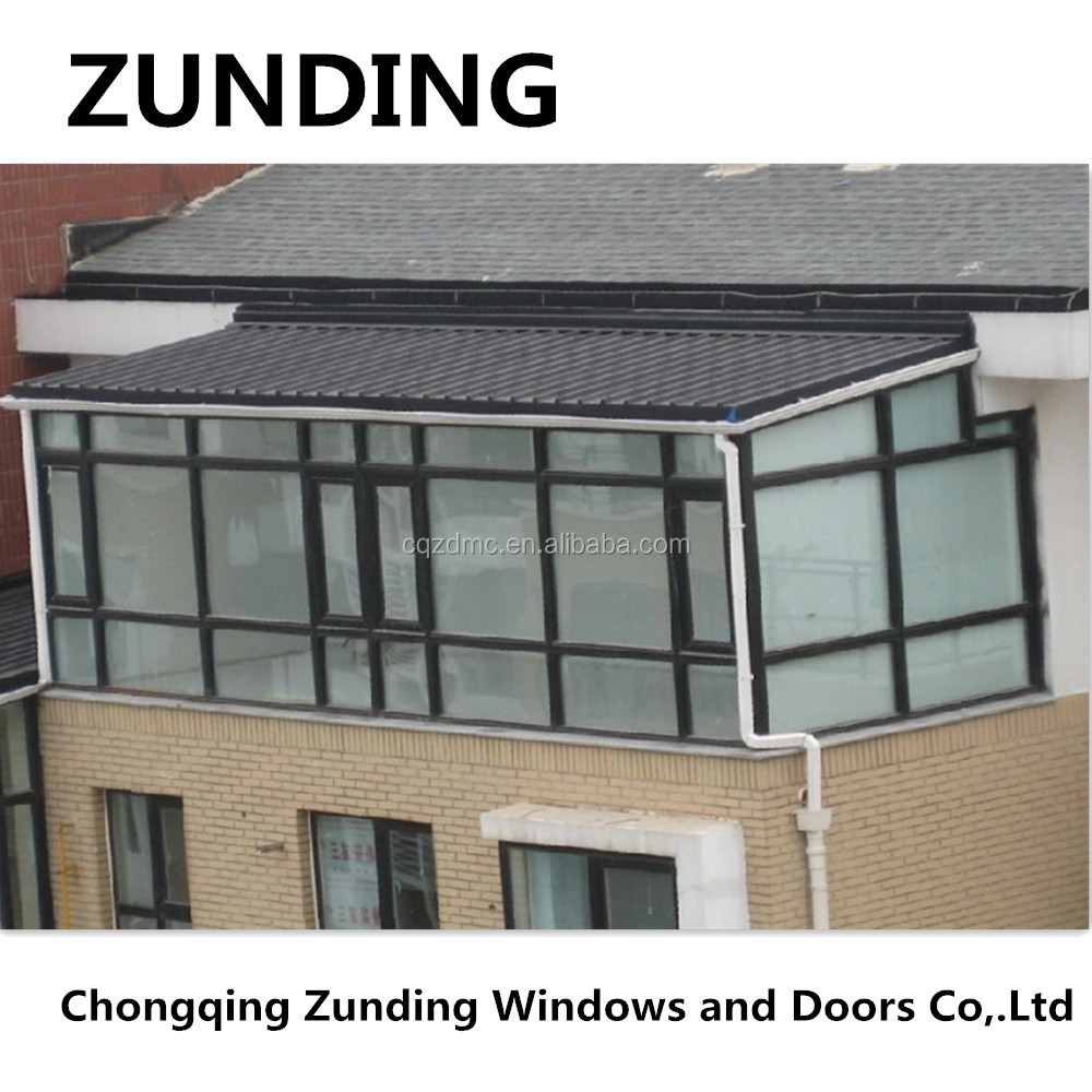 Elegant Design Slant Roof Aluminium Alloy Sun Room/Winter Garden/Green House
