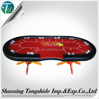 Wholesale production multy poker game used Steel cup Poker table with iron legs wood