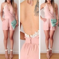 Sleeveless with backless women new fashion beautiful Jumpsuit