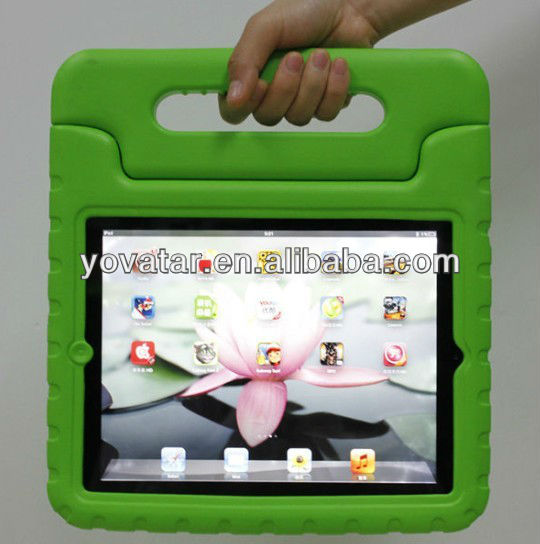 High Quality Best Choice for new iPad 2/34 EVA Case Shockproof case for Kids for baby Green