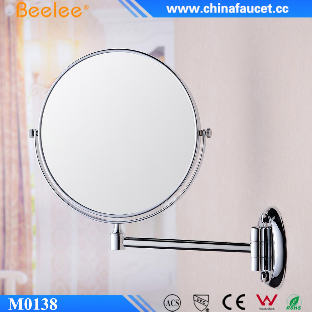 Beelee 360 Degree Swivel Extendable Decorative Wall Hanger Mirror
