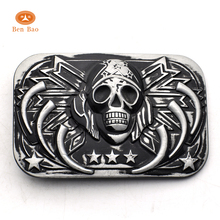 Benbao new product big cowboy cowgirl transformers autobot grim reaper belt buckle