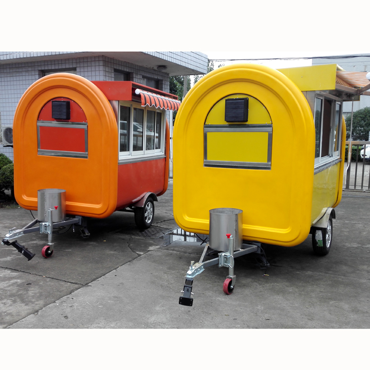 Popular Multi-function Mini Food Truck Fast Food Cart Hot Dog Vending Van