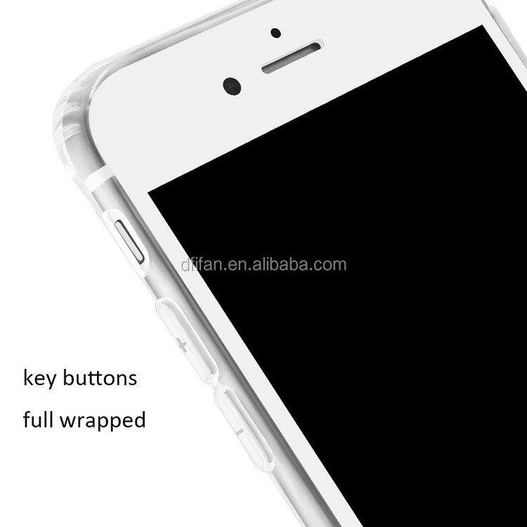 DFIFAN Simple Design Fashion Mobile Accessories Clear shockproof Skidding Back Cover for Apple iPhone7 plus