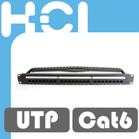 Taiwan Supplier 24 Port RJ45 Cat6 Unshielded UTP 8-in-1 Station ID Modular Patch Panel