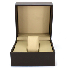 Custom logo luxury leather PVC single slot watch display boxes