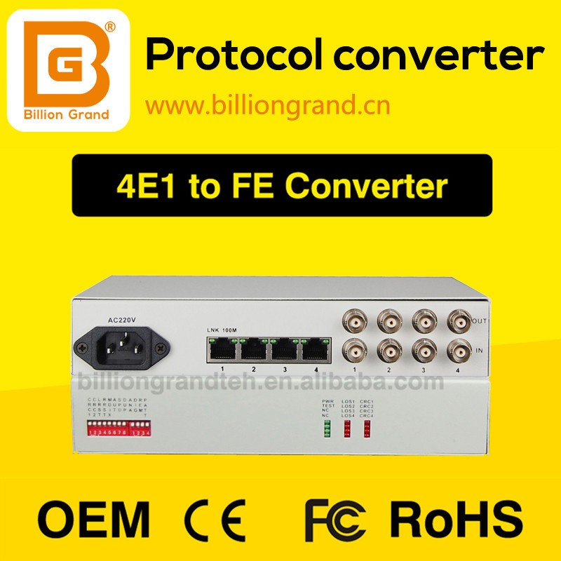 E1 To Ethernet Fiber Optic Media Converter