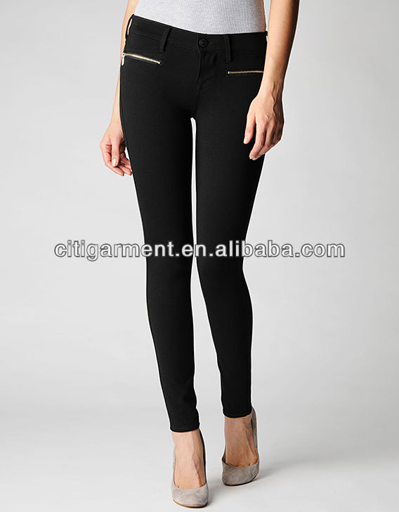 WOMENS SALLY LOW EDIE WITH ZIPPERS DENIM PONTE WOMENS LEGGING VV0085
