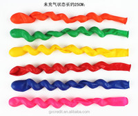 Christmas decorating Screw/ spiral shaped latex balloon