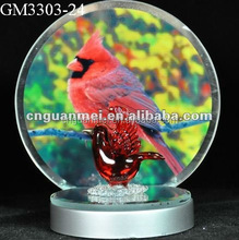 factry price promotion hotsell glass bird cage candle holder