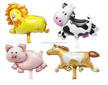 40*30cm Lion Cow Pig Horse Foil Air Balloons Party Decoration Mini Animal Balloons