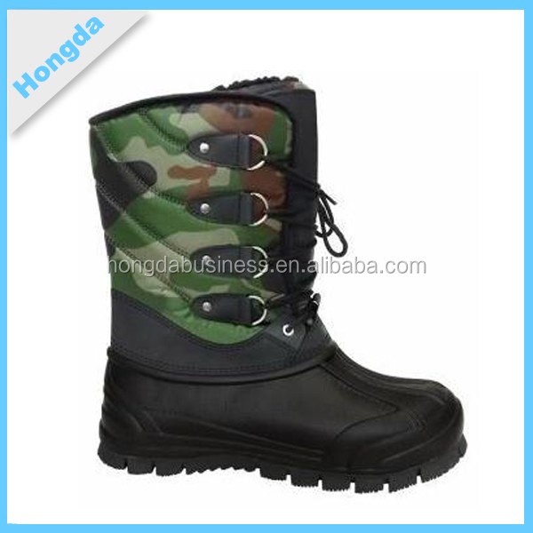 waterproof camouflage men snow boots
