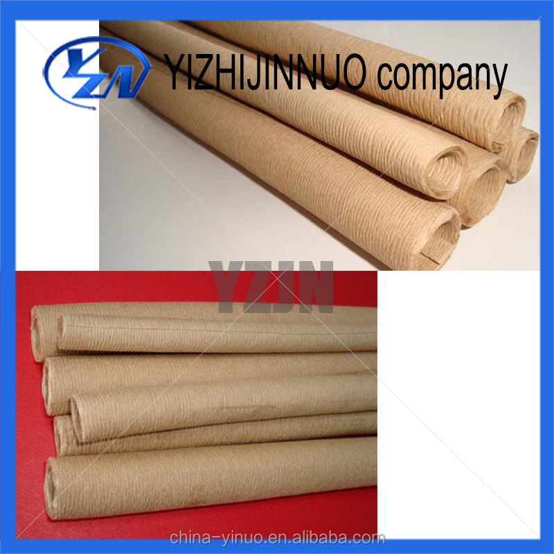 high voltage crepe paper tube/insulating crinkled paper tube