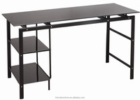 iso standard office table size glass computer table for one computer 40010W2