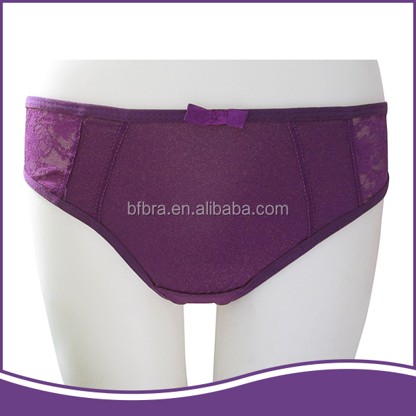 Original design clear and natural elegant purple cheap women panties