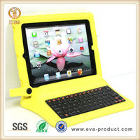 Hot Sale EVA Foam Bluetooth keyboard Case For iPad 2/3/4
