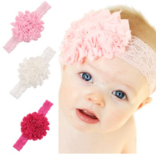 2017 Nice Hot Cute Baby Girls Hairband Princess Crown with Beads Elastic Straps Kids Hair Accessories Elastic Headbands