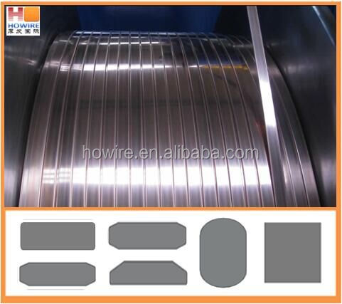 cold rolled square profiled flat stainless steel wire