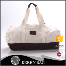 Alibaba China supplier Textured linen cotton tote bag/ travel bag