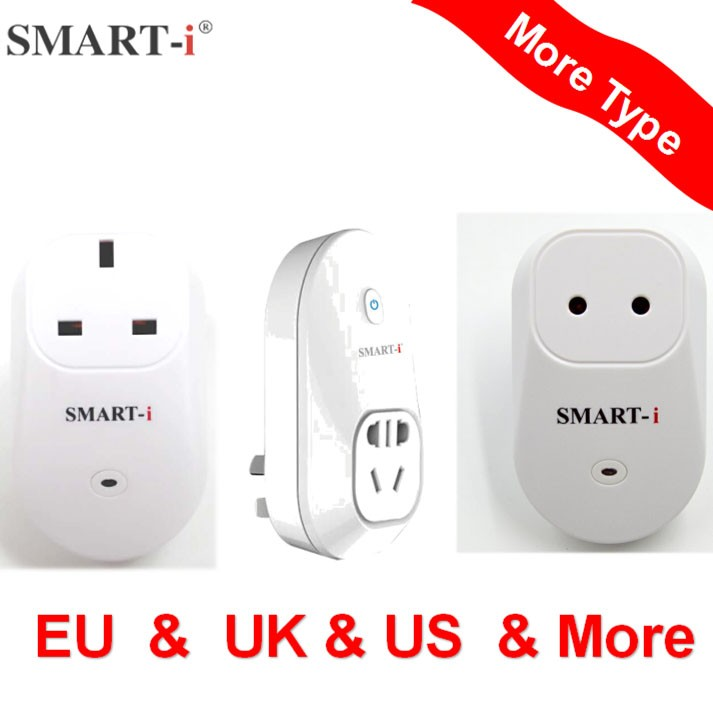 Smart-i Home fashion remote controller electrical wall switch socket wifi portable socket with home and office